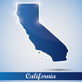 shiny icon in form of California state, USA
